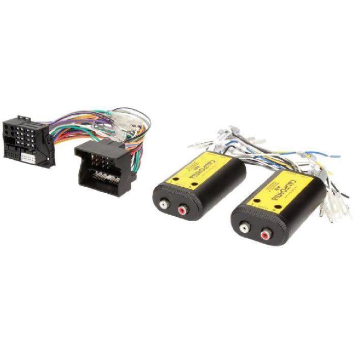 Adaptateur pour ajout amplificateur sur systeme origine - Fakra 4 canaux et Remote - BMW Ford Mercedes Seat Skoda VW