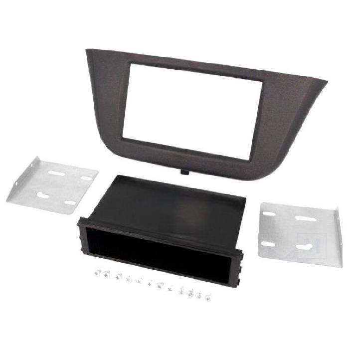 Facade autoradio 1DIN Iveco Daily ap13 - Noir - avec vide-poche - ADNAuto