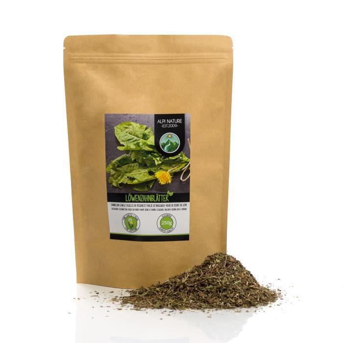 Tisane de pissenlit (250g), Thé de pissenlit, Infusion de feuilles de pissenlit, coupées, délicatement déshydratées, 100% pures et n