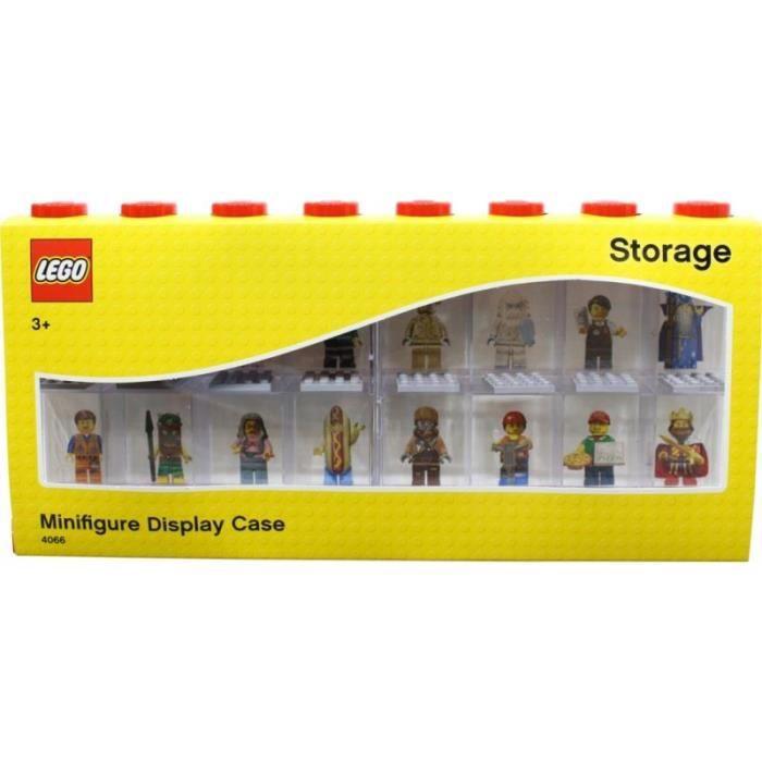 Vitrine de présentation des mini-personnages LEGO 4066 pour 16 mini-personnages conteneur empilable contre un mur ou sur un bureau