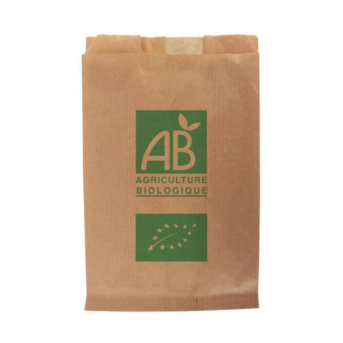 Sacs papier kraft fruits et légumes AB 1 kg / 17 + 6 x 26 cm X1000 UV