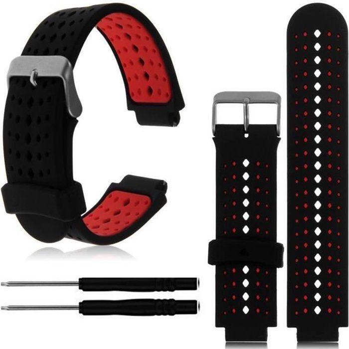 bracelet de montre vendu seul Bande de montre-bracelet de remplacement en silicone souple pour Garmin Forerunner 230-235-630
