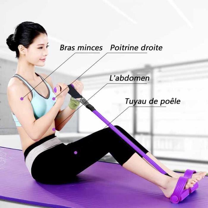 Appareil Abda Mixte-Extracteur de corde à quatre brins de tuyau de fitness pratique-violet LANGJING®