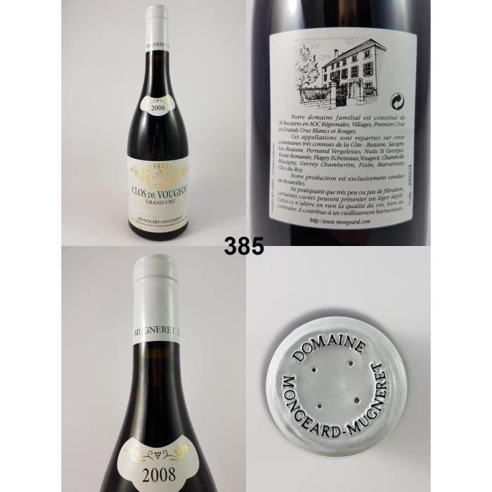 Clos de Vougeot - Mongeard-Mugneret 2008 - N° : 385, Clos de Vougeot, Rouge