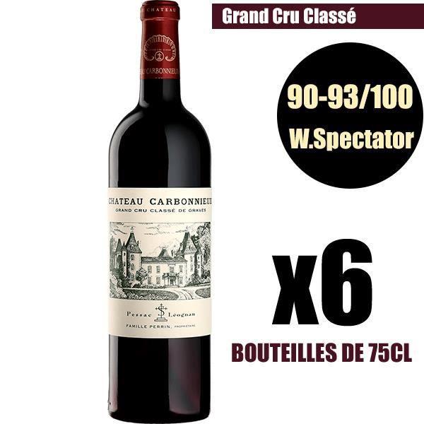 X6 Château Carbonnieux 2016 75 cl AOC Pessac-Léognan Grand Cru Classé Vin Rouge