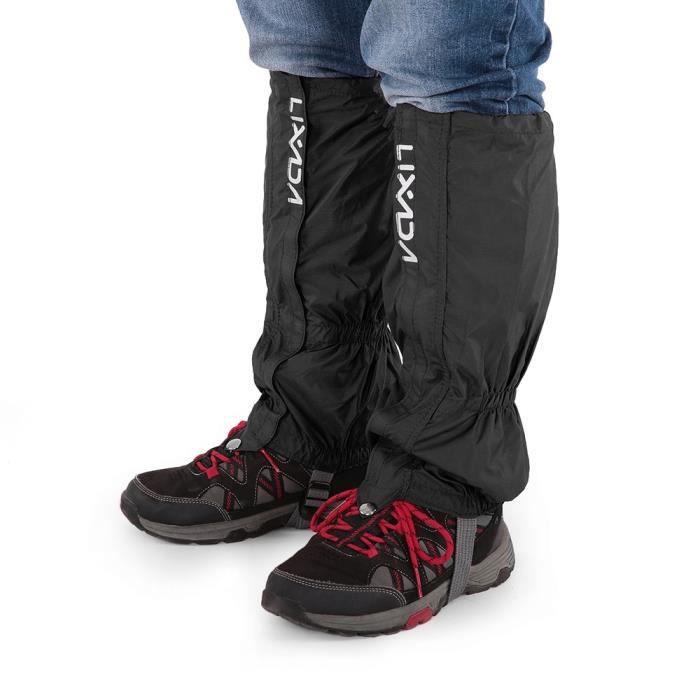 Black -Lixada – guêtre d'escalade de randonnée en plein air étanche, couvre chaussures enveloppés de protection en tissu unisexe