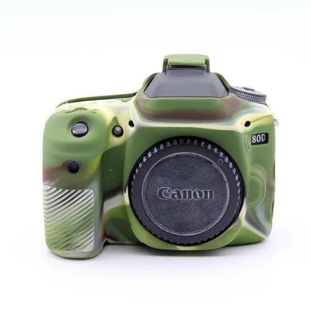Nouveau sac de caméra en Silicone souple pour Canon 70D appareil photo numérique étui de protection en caoutch*ES5669