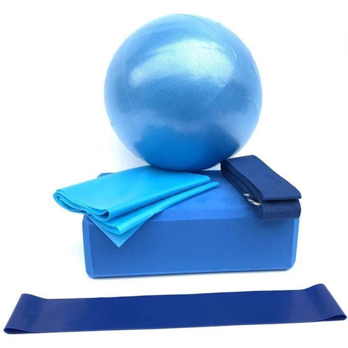 5pcs Bandes de Résistance Elastiques Musculation Fitness Kit, Boule de Yoga Résistance Boucle Boule d'exercice Sangle Ceinture bleu