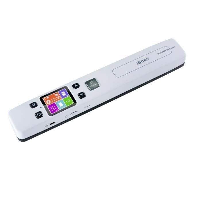 Scanner Portable Sans Fil Wifi LCD 480*320 HD TFT USB 2.0 Portable 1050 DPI Document iScan Handyscan Support TF Card 32G