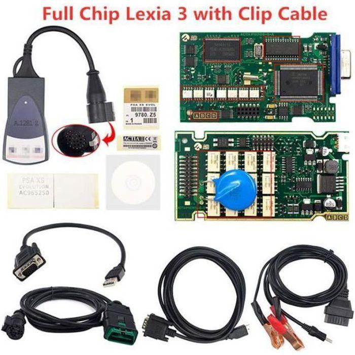 BW17977-Lexia 3 PP2000 Diagbox 7.83 OBD2 Scanner Firmware 921815C Lexia3 V48-V25 pour Citroen-Peugeot Lexia3 PSA - Type Full Chip