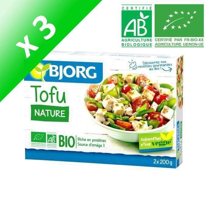 Lot de 2 x200g Tofu Nature Bio BJORG (Lot de 3)