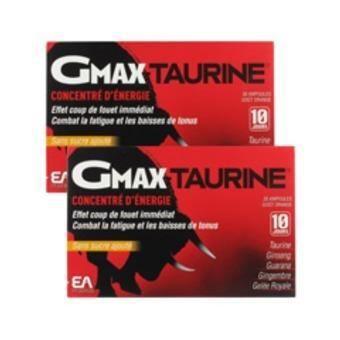 GMAX® TAURINE LOT DE 2 X 30 AMPOULES