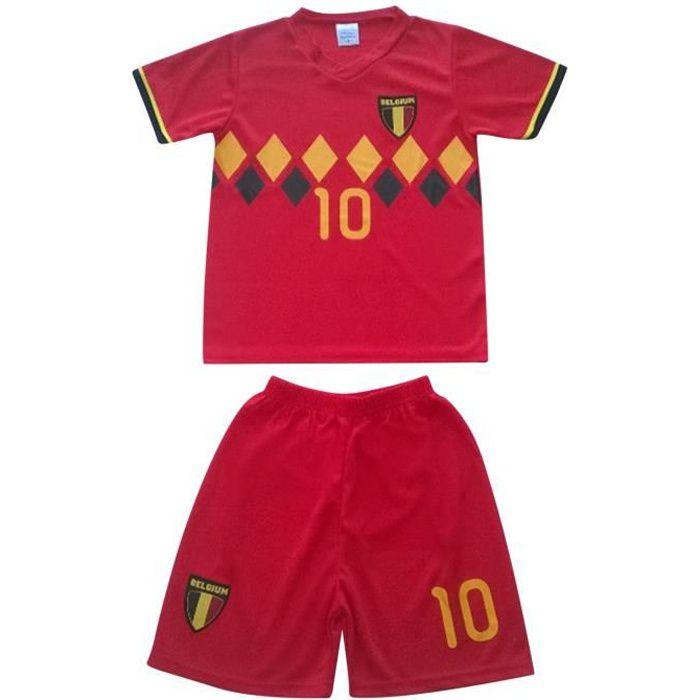 Ensemble De Vetements De Football - Tenue De Football - NPZ - Ensemble short et maillot de foot Belgique news Taille de 4 à 14 ans