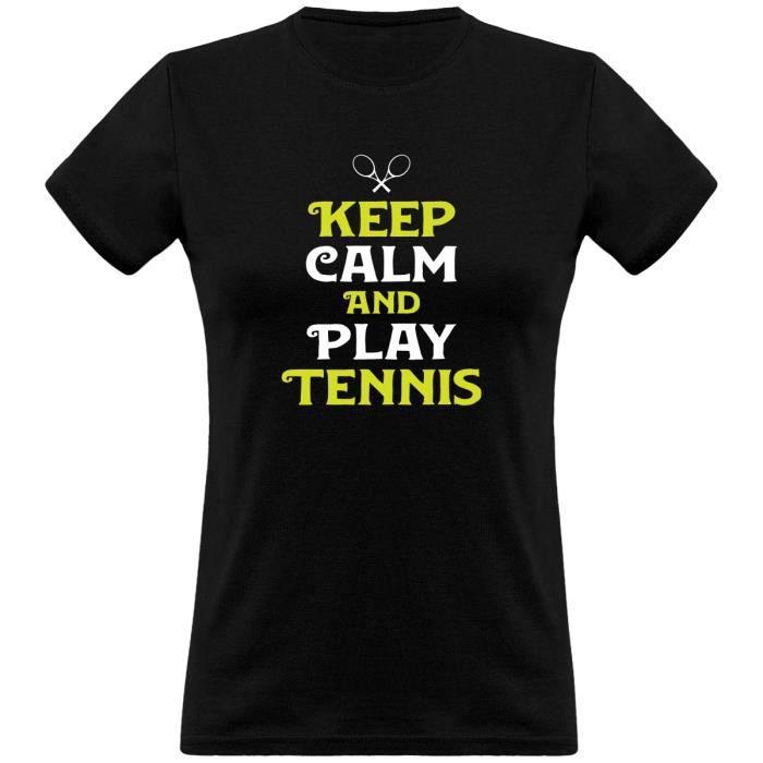 tee shirt femme humour - Cadeau imprimé en France - 100% coton, 185gr - keep calm and play