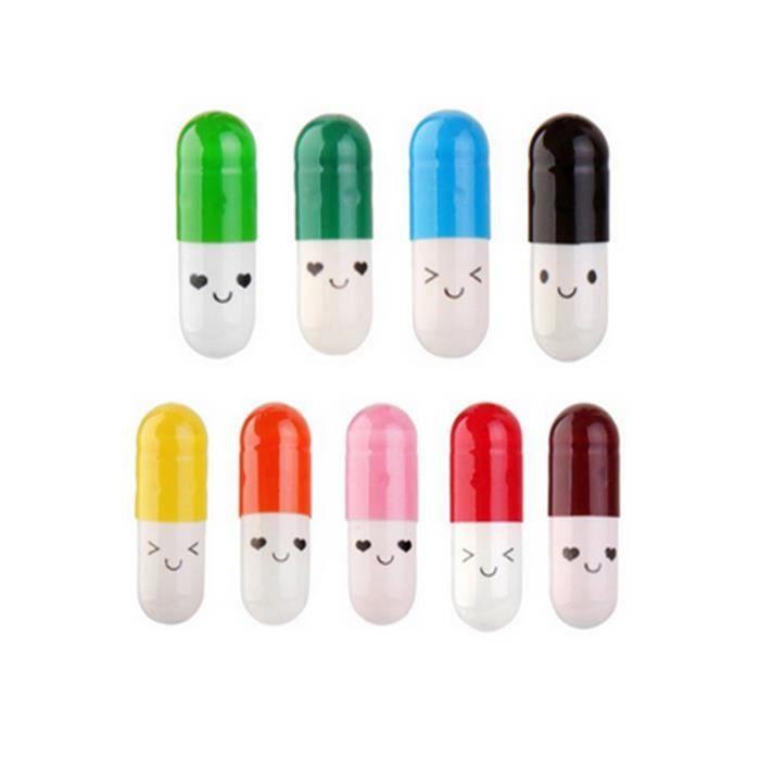 Lettre de capsule message de bouteille lettre de capsule dans une mini-bouteille rétractable cadeaux mignons 50pcs