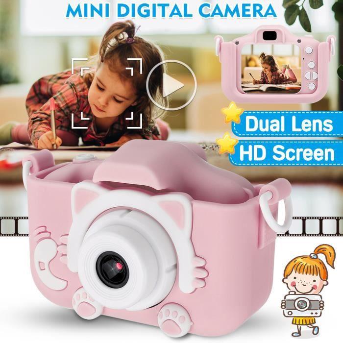 NEUFU Appareil Photo Numérique HD pour Enfants - Enregistreur vidéo Dual Lens X5S 2000W Noël Cadeau Jouet Rose
