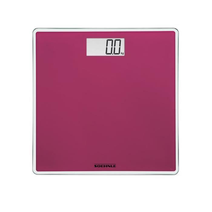 SOEHNLE Pèse-personne Electronique Compact 200 - 180 kg/100g - Rose