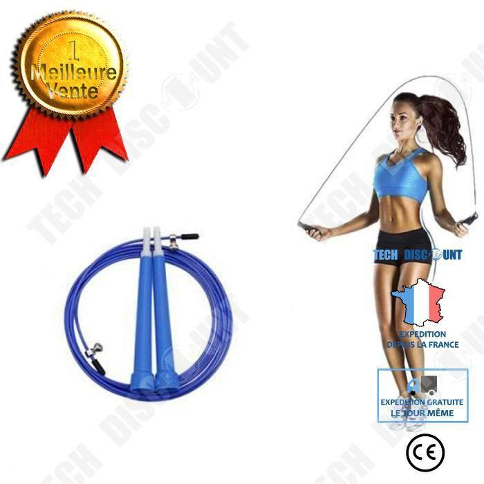TD® Calorie en d'aluminium corde à sauter poignée en plastique roulement universel corde à course fil d'acier corde à sauter adulte