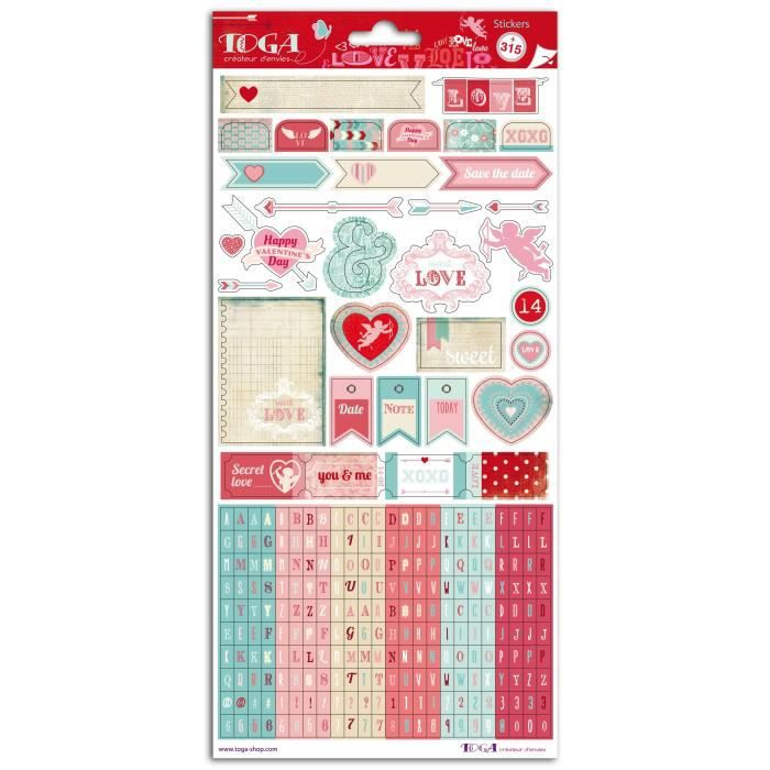 TOGA 2 Planches Stickers Fantaisie 15X30cm - A La Folie