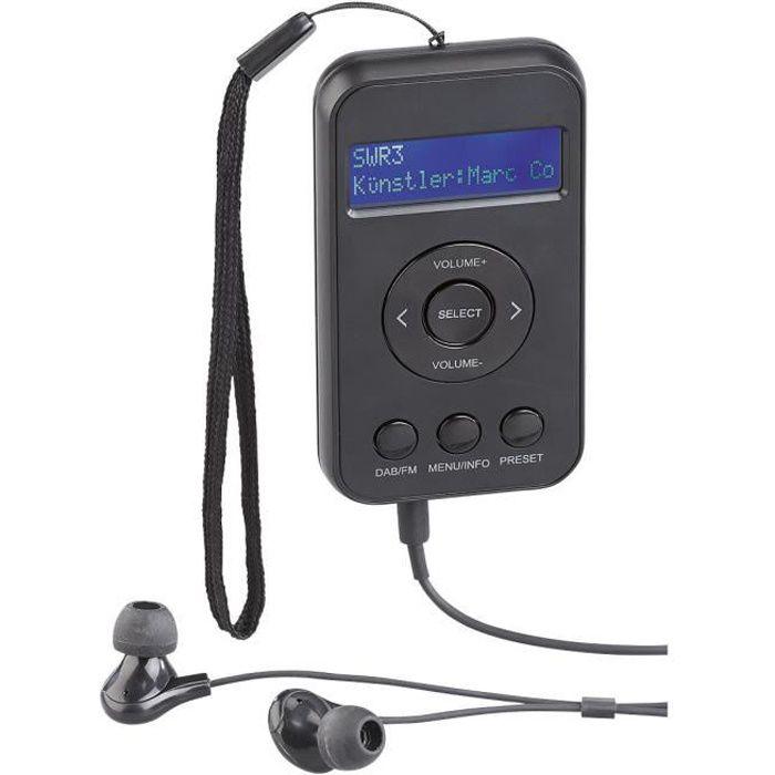 Radio de poche numérique DAB+/FM avec écran LCD, DRC et écouteurs -DOR-265-