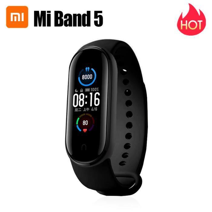 Xiaomi Mi Smart Band 5 Écran AMOLED couleur dynamique - 11 modes sportifs - BT 5.0 - Caméra / Fitness Sports/ Health Bracelet - noir