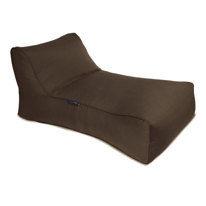 Pouf ext rieur studio lounger outdoor marron achat for Chaise longue exterieur