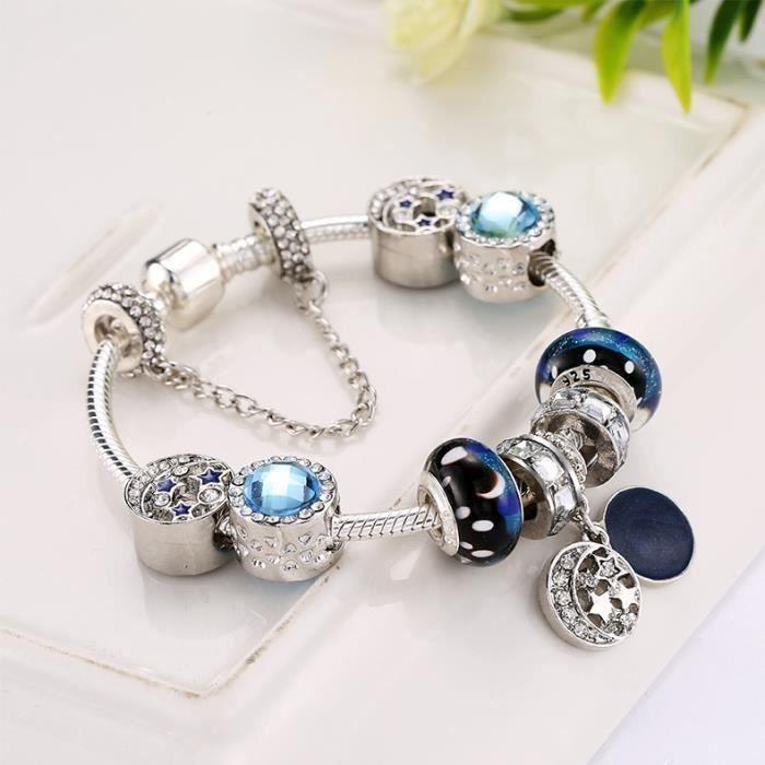 20CM Charms Bracelet Pandora Style à breloques en