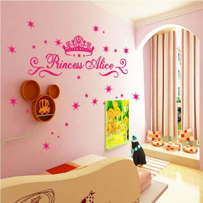 stickers unique bande dessine princesse couronne twinkle - Decoration Chambre Princesse