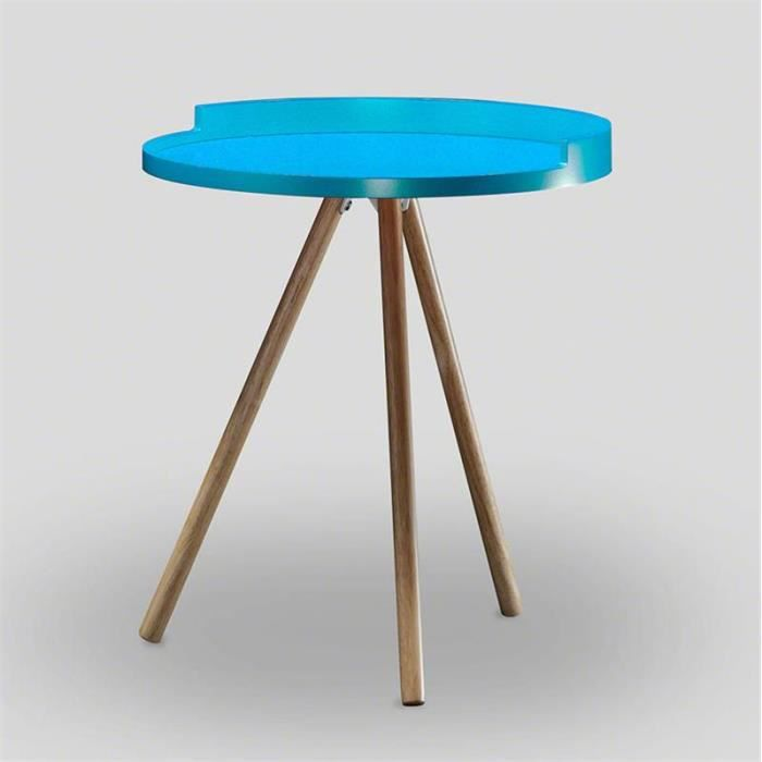 Table d 39 appoint scandinave bleu achat vente table d for Table d appoint fly
