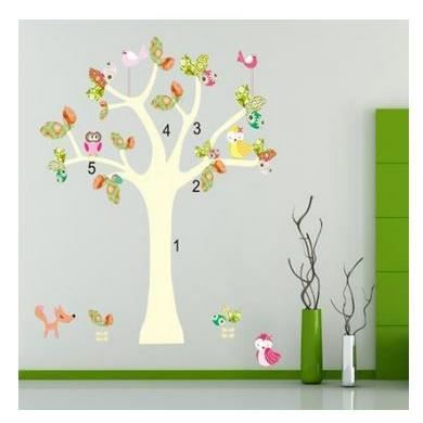 Stickers arbre chambre fille maison design for Stickers chambre petite fille