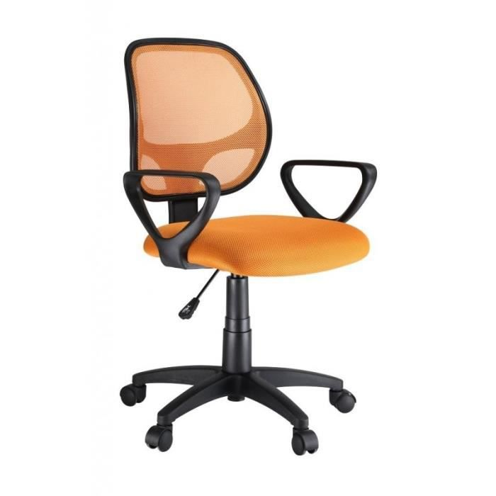 fauteuil de bureau chaise si ge de bureau respirant ergonomique orange 0509012 achat vente. Black Bedroom Furniture Sets. Home Design Ideas