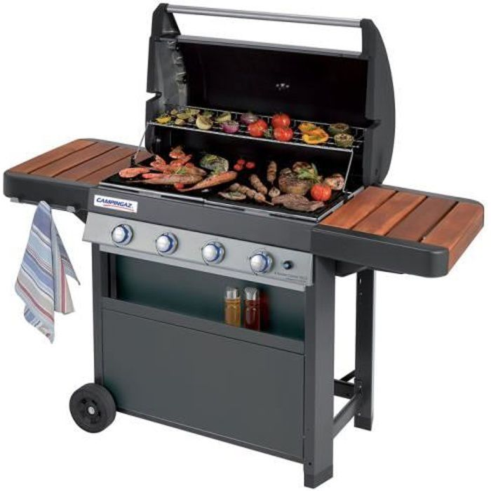 barbecue gaz 4 br leurs grill plancha four chariot 78x45cm. Black Bedroom Furniture Sets. Home Design Ideas