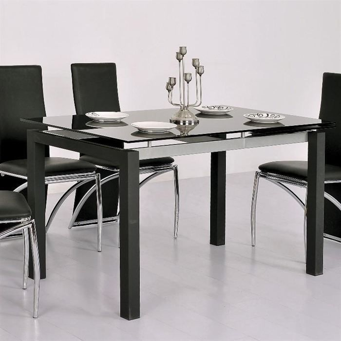 table a manger en verre extensible. Black Bedroom Furniture Sets. Home Design Ideas