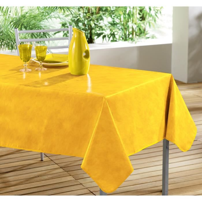 nappe pvc rectangle 240x140 beton cire jaune achat vente nappe de table cdiscount. Black Bedroom Furniture Sets. Home Design Ideas