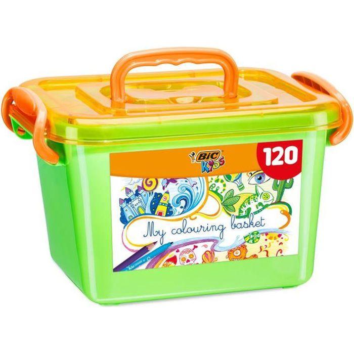 Bic Kids Boite De Coloriage 60 Crayons De Couleurs 60 Feutres De Coloriage Achat Vente Kit De Dessin Bic Kids Boite De Coloriage Cdiscount