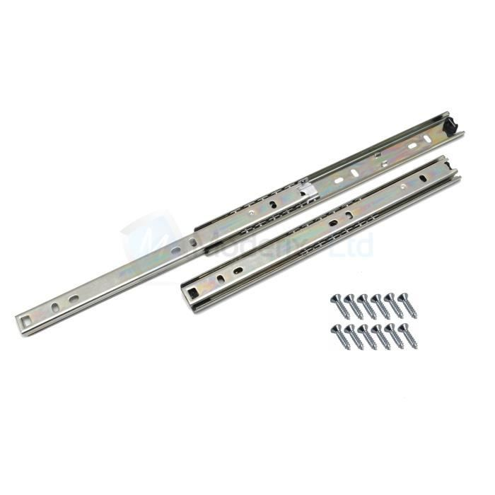 Lot de 1 Coulisse de tiroir 246mm tiroir montage lat/éral L