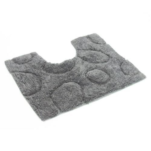 tapis contour wc galets zen gris achat vente tapis de bain cdiscount. Black Bedroom Furniture Sets. Home Design Ideas