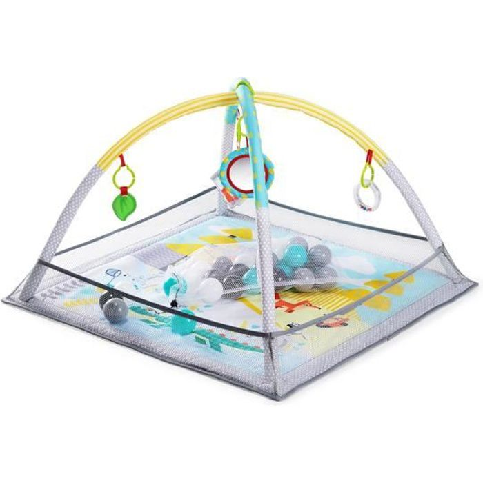 Kinderkraft Tapis d/'Éveil Bébé MILY Éducatif Parc Enfant Arche de Jeux Réglable