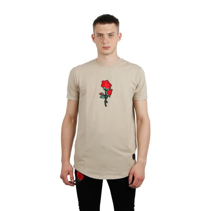 73b9ab8c9 Tee Shirt Brodé Rose homme Project X Paris (XL - Beige)