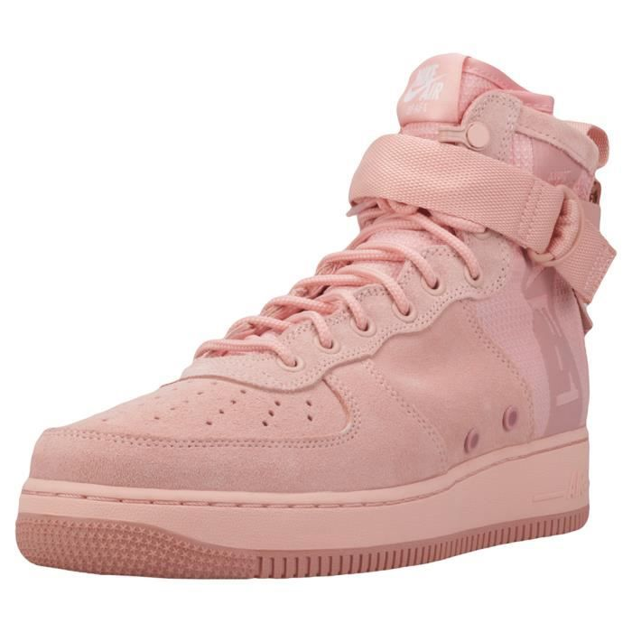size 40 99824 1a05f BASKET Nike Sf Air Force 1 Mid Homme Baskets corail