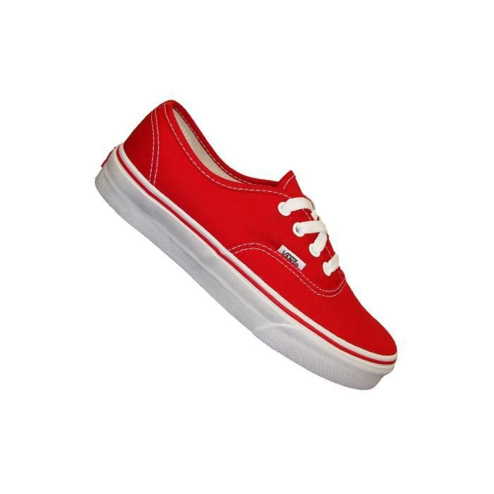 Vans - Basket - Authentic Off The Wall - Rouge Red - Rouge - 39 ...