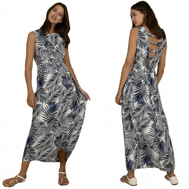Robe Longue Molly Bracken Imprime Jungle Blanc Et Bleu G610be20 Bleu Achat Vente Robe Cdiscount