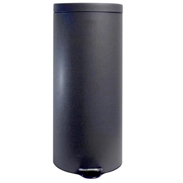 POUBELLE - CORBEILLE Poubelle noire en métal 30L finition granitée - Di