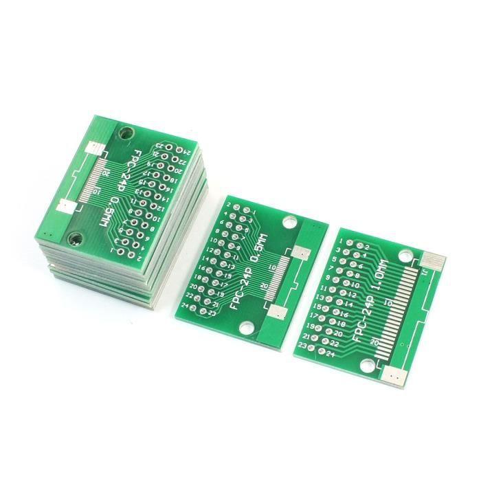 sourcingmap/® 15 PCs FPC-24P 0.5mm//1mm 2.54mm Pas Adaptateur Carte circuits imprim/és 35mm x 28mm