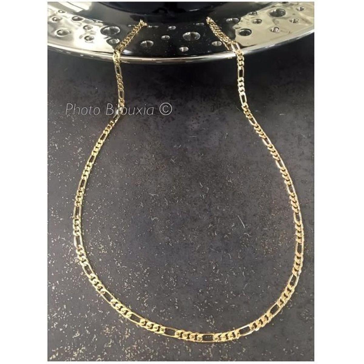 chaine collier maille gourmette doré de 60cm et 4mm homme femme neuve