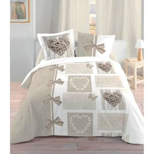 parure de lit 220x220 romantique achat vente parure de. Black Bedroom Furniture Sets. Home Design Ideas