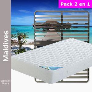 ENSEMBLE LITERIE Maldives - Pack Matelas + AltoZone 140x200