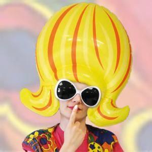Granny Kit-Perruque Lunettes Collier Ancien Déguisement Adultes Costume Set Lady