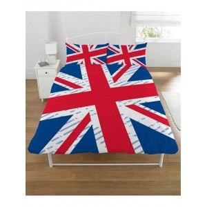 housse de couette london union jack 2 places achat vente housse de couett. Black Bedroom Furniture Sets. Home Design Ideas