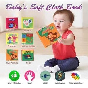 LIVRE D'ÉVEIL 6 x Livre Tissu Bébé Enfant Age Eveil Premier Inte